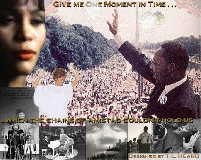 Art projec featuring Whitney Houston and Martin Luther King Jr.